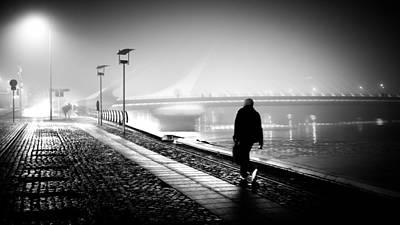 35mm Photograph - The Photographer - Dublin, Ireland - Black And White Street Photography by Giuseppe Milo