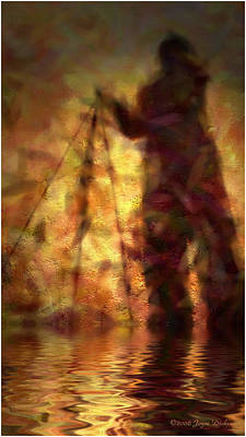 The Photographer In Water Art Print by Joyce Dickens