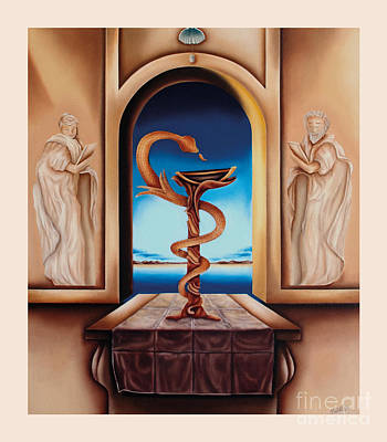 Social History Painting - Surreal The Physician by Johannes Murat