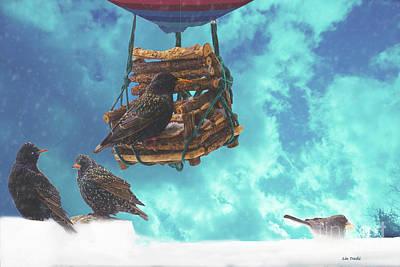 Starlings Mixed Media - The Pi Snowstorm by Linda Troski