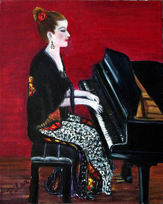 Painting - The Pianist by Pilar  Martinez-Byrne