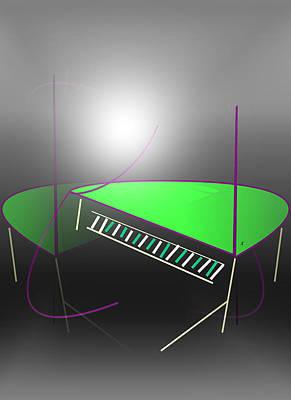 Abstract Expressionist Digital Art - The Piano by John Krakora