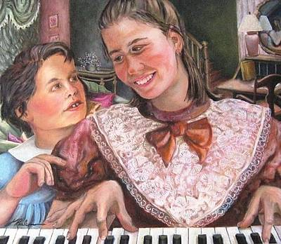 Painting - The Piano - Le Piano by Therese Rouleau