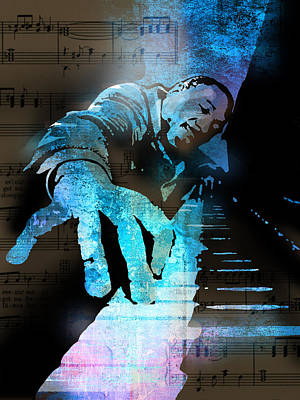 Blues Musician Painting - The Piano Man by Paul Sachtleben