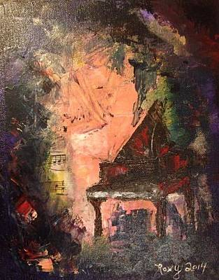 Abstract Painting - The Piano by Roxy Rich