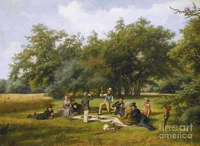 Baseball Painting - The Picnic by Celestial Images