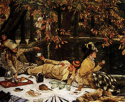 Digital Art - The Picnic by James Jacques Joseph Tissot