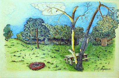 Drawing - The Picnic Preserve by J R Seymour