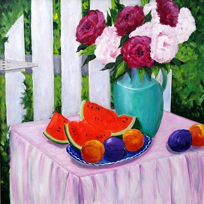 Painting - The Picnic by Rosie Sherman
