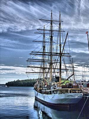 Photograph - The Picton Castle Docked In Lunenburg by George Cousins