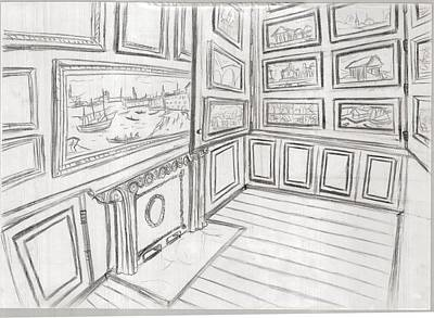 The Picture Gallery At The Soane Museum 2 Art Print