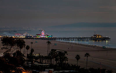 Photograph - The Pier After Dark by Gene Parks