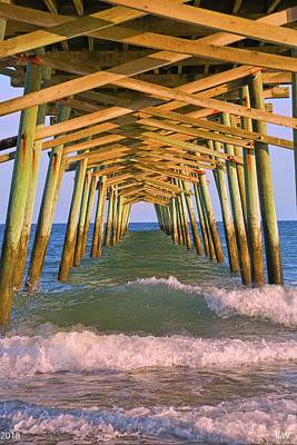 Photograph - The Pier At Emerald Isle North Carolina by Lisa Wooten