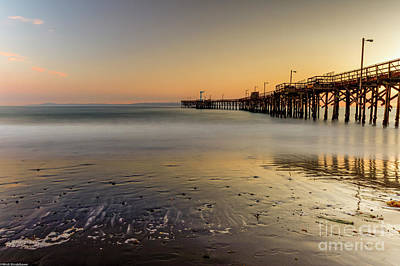 Photograph - The Pier At Goleta  by Mitch Shindelbower