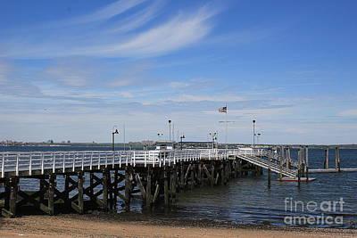 Photograph - The Pier At Manhasset Bay by Dora Sofia Caputo Photographic Art and Design