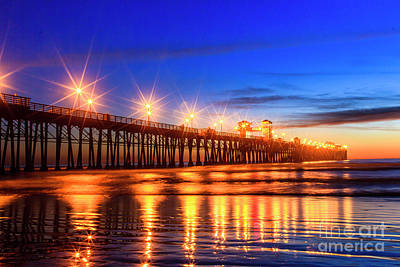 Photograph - The Pier At Oceanside California by Ben Graham