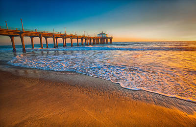 Photograph - The Pier At Sunset by Fernando Margolles