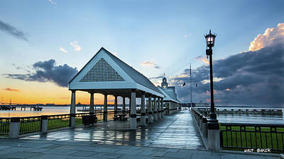 Photograph - The Pier At Waterfront Park by Walt Baker