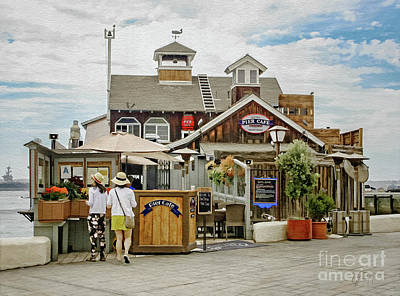 Photograph - The Pier Cafe Front View by Gabriele Pomykaj