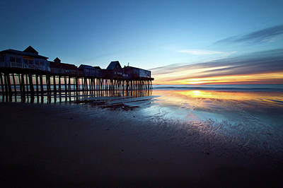 Photograph - The Pier In Blue by Ed Fletcher