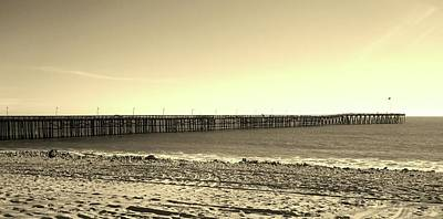 The Pier Art Print by Mary Ellen Frazee