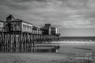 Photograph - The Pier - Monochrome by Claudia M Photography