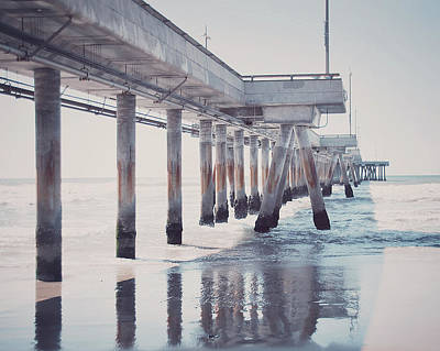 The Pier Art Print by Nastasia Cook