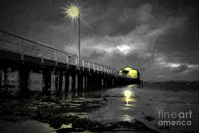 Digital Art - The Pier On The Bay by Howard Ferrier