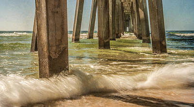 The Pier Art Print by Phillip Burrow