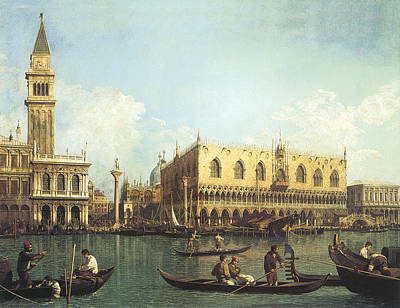 1730 Painting - The Pier, Seen From The Basin Of San Marco by Pieter Bruegel