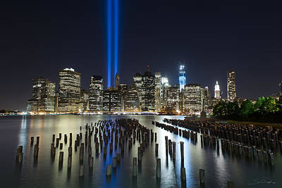 Photograph - The Pier - World Trade Center Tribute by Shane Psaltis