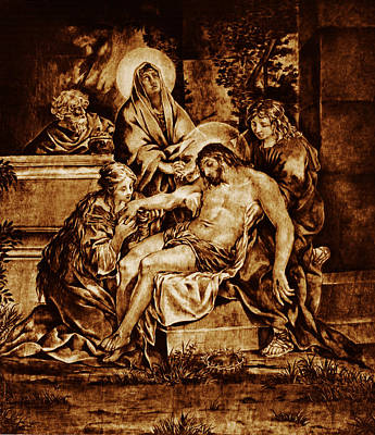 The Pieta Art Print by Dino Muradian