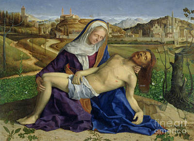 Jesus Art Painting - The Pieta by Giovanni Bellini