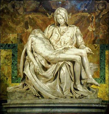 Pieta Digital Art - The Pieta by Michael Perlin