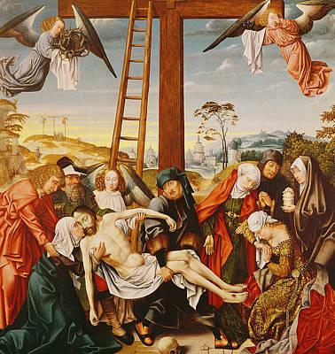 The Pieta Art Print by Rogier van der Weyden