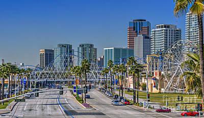 Photograph - The Pike Shoreline Drive Long Beach by David Zanzinger