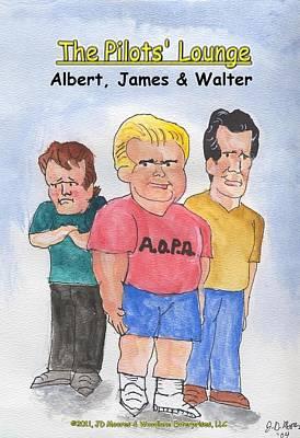The Pilots Lounge Cartoon Characters Art Print