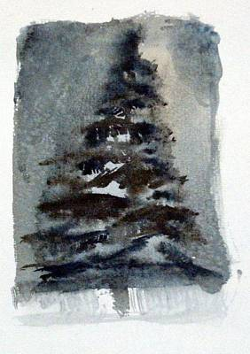 Fir Trees Drawing - The Pine Tree by Mindy Newman