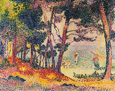 Pointillist Painting - The Pine Wood, Provence by Henri-Edmond Cross