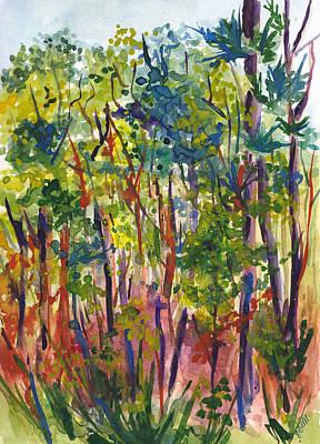 Painting - The Pines by Clara Sue Beym