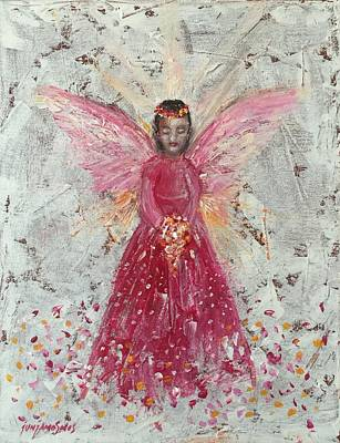 Painting - The Pink Angel 2 by Jun Jamosmos