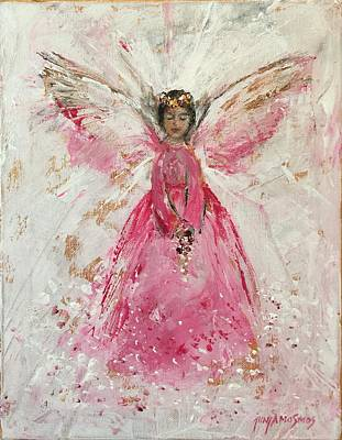 Painting - The Pink Angel  by Jun Jamosmos