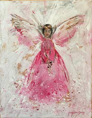 The Pink Angel  Art Print by Jun Jamosmos
