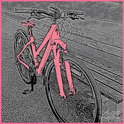 Photograph - The Pink Bicycle by Joan-Violet Stretch