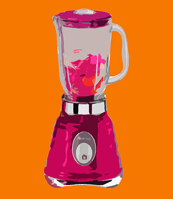 The Pink Blender Art Print by Peter Oconor
