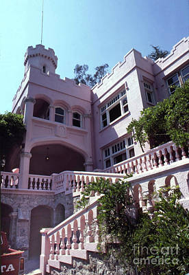 Photograph - The Pink Castle  5455 Castle Knoll Drive, La Canada Flintridge Ca 91011 Circa1981 by California Views Archives Mr Pat Hathaway Archives
