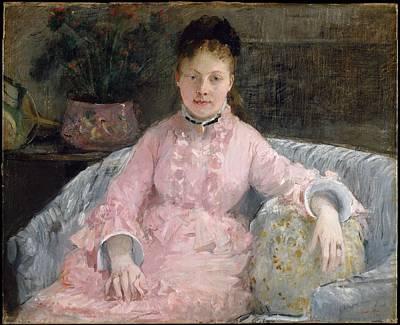 The Pink Dress Albertie-marguerite Carr Later Madame Ferdinand-henri Himmes 18541935 Original