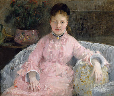Victorian Era Wall Art - Painting - The Pink Dress, Circa 1870 by Berthe Morisot