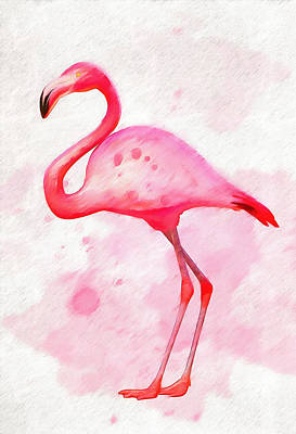 D Wade Painting - The Pink Flamingo by Dan Sproul