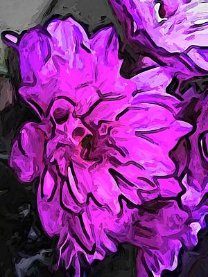 Digital Art - The Pink Flower With The Lavender Edges by Jackie VanO